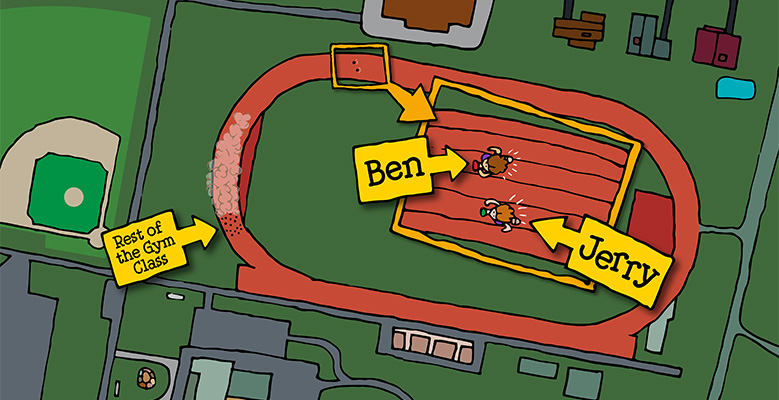 Ben and Jerry met on a track - Ben & Jerry's