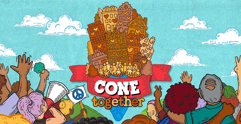 illustration of people standing for Cone Together